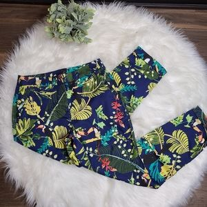 Chico's NWT Tropical Print Ankle Pants